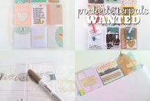 Pocket Letters - Snail Mail / Pocket Letters and other fancy snail mail items. Envelopes, cards, letters, packages.