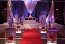 South Asian Wedding  / South Asian Wedding Decor in Champagne & Plum