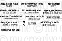 Just a Little Note to Say... / Inspiration for this stamp set!
