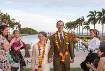 Vibrant Colored Wedding Photography / Weddings with colors that reflect South Florida's natural beauty.  Strong colors, ocean, dramatic skies and palm trees.