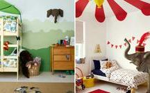 Painted and stencilled kids rooms