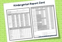 pre K - K report cards and records