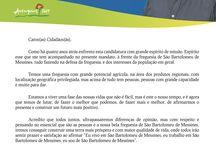 cartas dos candidatos  / cartas dos candidatos às Juntas de Freguesia do concelho, à Câmara e Assembleia Municipal de Silves