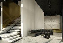 escaleras interiores elegantes