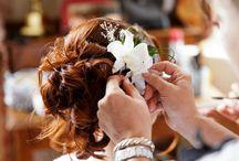 Boutonnière et déco coiffure / Boutonnière et déco coiffure pour mariage