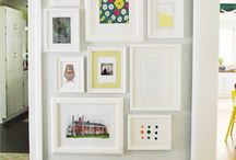 Wall Display / Ideas to brighten up a wall...