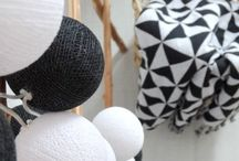 black & white decorations