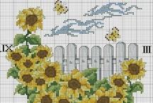 stavrovelonia cross stitch sunflowers