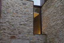 stone building facade details