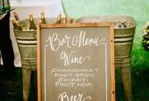 Creative Calligraphy & Signs / we offer custom calligraphy for our chalkboards, windows, mirrors for wedding and special event signage.