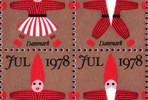 Tanskalaisia joulupostimerkkejä