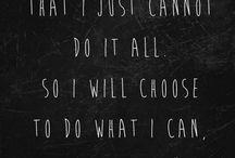 Wisdom / quotes that count