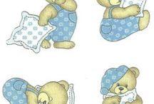Ursinhos para pintar em fraldas