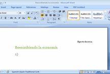 Reescribiendo la economía / ¿Reescribimos la #economía juntos? #bancaética