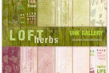 UHK Gallery 2016 - LOFT herbs - scrapbooking papers collection