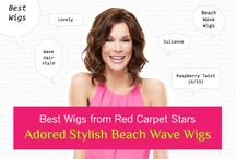 Best Wigs from Red Carpet Stars : Adored Stylish Beach Wave Wigs / Best Wigs from Red Carpet Stars : Adored Stylish Beach Wave Wigs