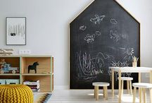 Chalkboards - back to childchood / Blackboards on the walls could not only be a pleasant reminiscence of the school times, but also very practical home décor