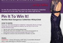 McAfee's Most Dangerous Celebrities Pin It To Win It Contest