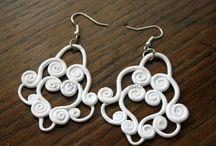 Soutache Fimo earrings