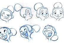 Character Design - Expressions / Faces and emotions