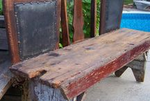 DIY-BENCHES / Making benches from bed frames.  / by Colleen Wells
