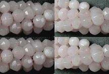 Stone Beads > Calcite Beads / Pink Calcite Beads, Yellow Calcite Beads and Orange Calcite Beads.