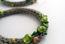 knitted jewlery, makrama