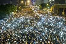Hong Kong stand-off / Thousands of pro-democracy supporters remain on the streets of Hong Kong, after angry demonstrations over the weekend. | wnn7.com | wnn7.in