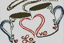 Kubki i filiżanki haft krzyżykowy