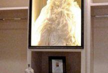 Robe mariée encadrée