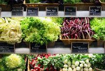 fruit and veg displays