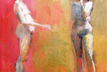 Ρόρρης Γιώργος - Φιγούρες , ελαιογραφία σε καμβά 160X200 εκ. Συλλογή Μαρή Λεφάκη  www.lefakis.gr / Ρόρρης Γιώργος - Φιγούρες , ελαιογραφία σε καμβά 160X200 εκ. Συλλογή Μαρή Λεφάκη  www.lefakis.gr