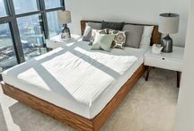 Bedrooms / See the bedrooms we've furnished! All furniture and accessories in each home are all delivered and set up by Furnishr in one day.