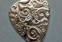 Silver och guldlera / silver and gold clay