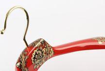 Hand painted hanger. Russian Folk