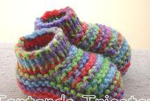 Sapatinho de tricot