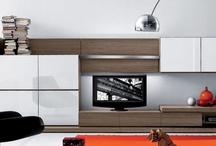 Ev-Tv ünitesi-tv wall fireplace