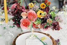 Wedding table setting - Terítés