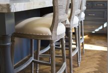 Stylish Counter Stools / Beautify your kitchen with decorative counter stools - French country,  Parisian cafe, retro metal, rustic iron and wood, shabby chic and many more.