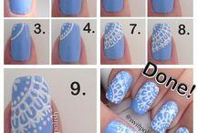 Nail Art Con Pizzo