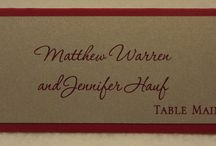 Place Cards & Table Numbers / Single or 2 Layer place cards for your guests to easily find where they are sitting as well as table numbers for each table! Match everything to your wedding theme or do something completely different!