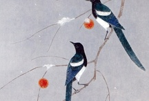 magpie art / magpies as depicted in art