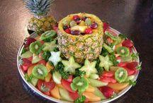 Obst/Gemüse anrichten