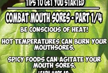 Tips to Relieve Mouth Sores during Cancer Treatment / This board is 4 helpful tips that will help you to relieve mouth sores during cancer treatment.