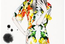 Fashion illustrations by Esra Roise