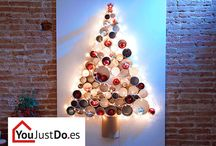 Bricolaje para Navidades / Cuando se acercan las Navidades apetece poner la casa bonita decorándola con manualidades para toda la familia. ¡A los niños les encantará pasar el día en familia aportando ideas brillantes!