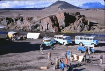 Apollo Astronaut Training in Iceland / In 1965 and 1967, two groups of American Apollo astronauts visited Iceland to study geology and practice collecting samples, under the guidance of Icelandic and American geologists. The Apollo geology field exercises were intended to develop the astronauts observational skills in recognizing basic geologic structures.  Nine of the twelve men who would later set foot on the moon between 1969 and 1972, came to Iceland to train for their missions.