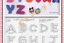 Crochet alphabet chart