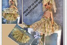 vintage style doll dresses