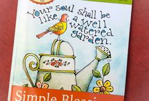 Simple Blessings Coloring Book / A collection of coloring pages designed to lift your spirit, encourage your heart and give you hours of coloring and creative pleasure!